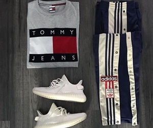 adidas, dope, and hilfiger image