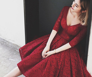 burgundy homecoming dress and homecoming dress v-neck image