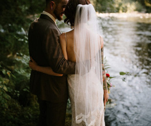 beautiful, couple, and in love image