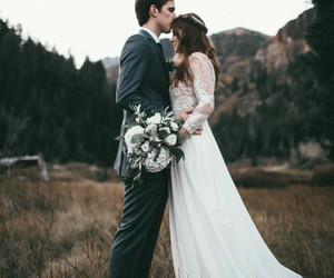 in love, kiss, and wedding image