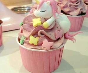 unicorn, food, and cupcake image