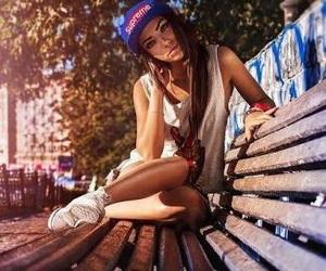 girl, swag, and supreme image