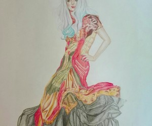 Alexander McQueen, drawing, and dress image