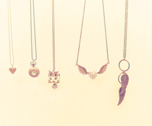 necklace, fashion, and heart image