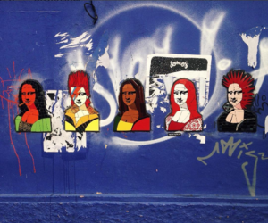 art, monalisa, and street image