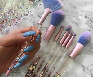 makeup, Brushes, and nails image