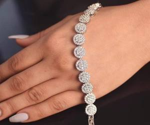 nails, diamond, and bracelet image