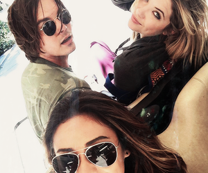 ashley benson, shay mitchell, and tyler blackburn image