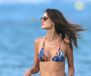 alessandra ambrosio, model, and bikini image