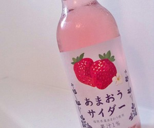 drink, japanese, and strawberry image