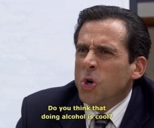 alcohol, the office, and funny image