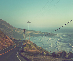 sea, road, and beach image