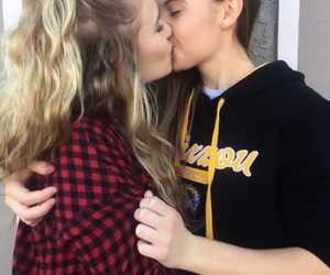 couple, lesbians, and gay image