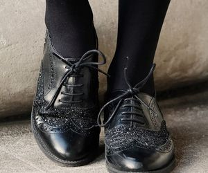 black, oxford, and shoes image