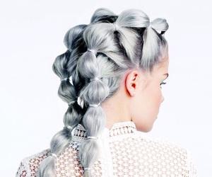 braids, fashion, and grey image