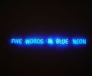 neon, blue, and light image