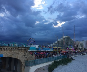 beach, neon, and carnival image