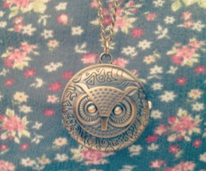 owl necklace vintage image