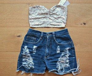 clothes, shorts, and top image