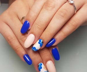 blue, nail, and nails image