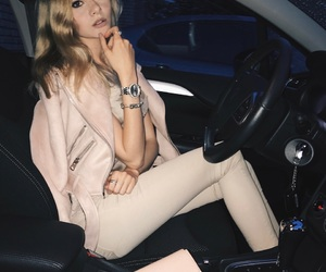 beautiful, blonde, and car image