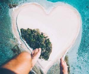 heart, Island, and beach image