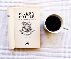 book, harry potter, and coffee image