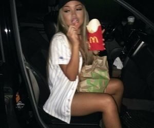 girl, food, and McDonalds image