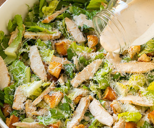 Chicken, salad, and food image