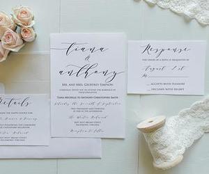 calligraphy, custom, and card image