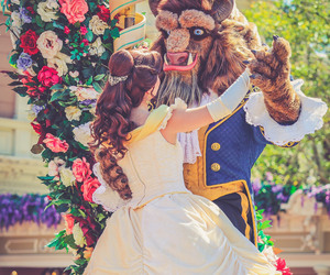 beauty and the beast, belle, and disney world image