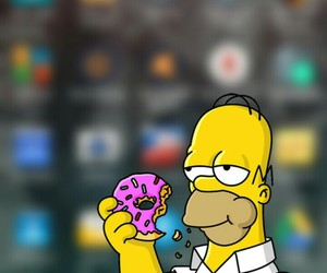 homer, wallpaper, and iphone image