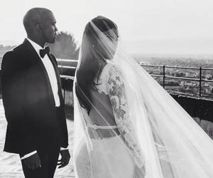 wedding, kim kardashian, and kanye west image