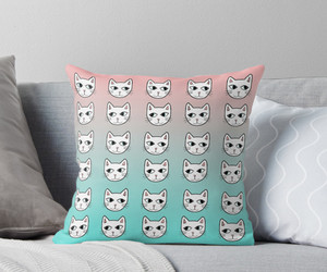cats, home decor, and pastel image