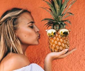 pineapple, girl, and blonde image