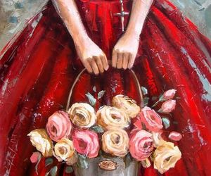 art, pretty, and dress image