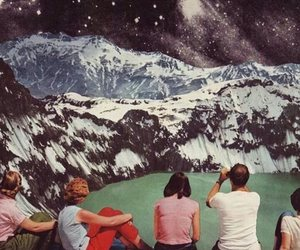 vintage, art, and mountains image