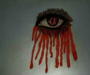 blood, drawing, and creepy image