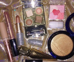 glitter, gold, and highlighter image