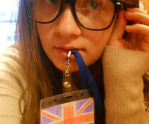 girl, glasses, and nerdy image