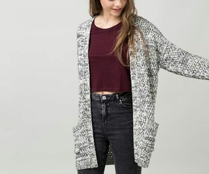 cardigan, grey, and jeans image