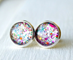 colorful, earrings, and etsy image