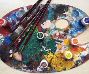 art, art supplies, and artist image