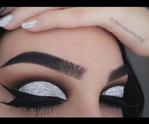 eyebrows, silver, and eyeshadow image