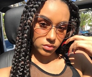 braids and sunglasses image