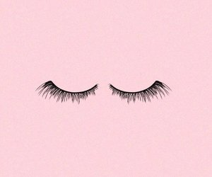 pink, wallpaper, and eyelashes image