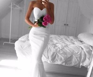 dress, pure, and wedding image