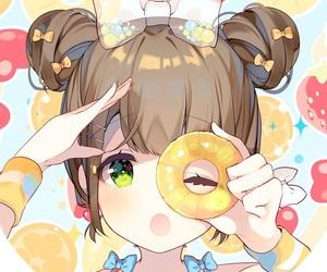 :O, kawaii, and pineapple image