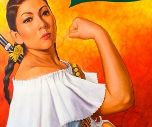 mexican, si se puede, and woman image