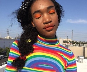 girl, rainbow, and sitemodel image